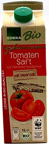 Edeka Bio Tomatensaft, 8er Pack (8 x 1 l)