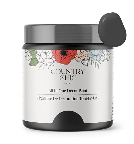Chalk Style Paint - for Furniture, Home Decor, Crafts - Eco-Friendly - All-in-One - No Wax Needed (Liquorice [Black], Pint (16 oz))