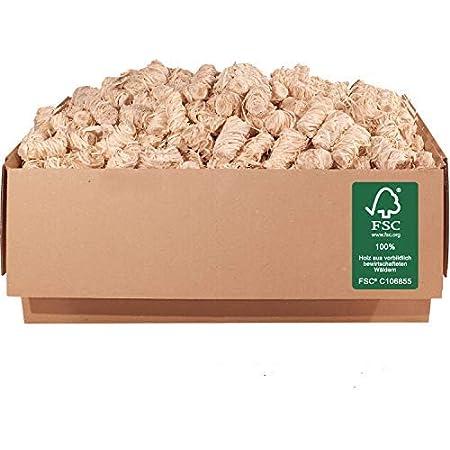 ORANGE DEAL 5,0 kg Öko Kamin-, Grill- Ofen-Anzünder (Anzündwolle, Anzündhilfe) aus Holzwolle + Wachs FSC® 100%