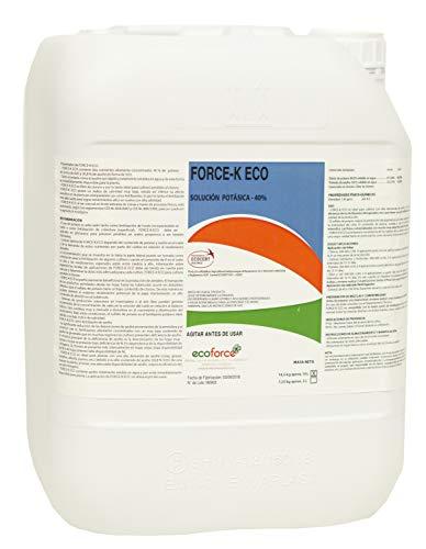CULTIVERS Force-K Eco de 10 L. Potasa liquida ecologica quelatada al 40% con pH neutro para el engorde y maduración de frutos