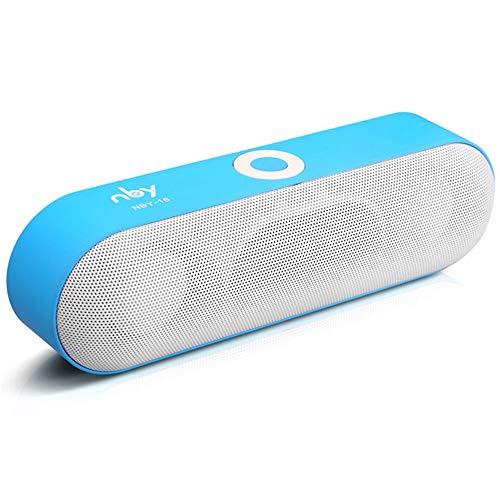Altavoces Bluetooth NBY-18 al aire libre portátil Bluetooth altavoz mini altavoz inalámbrico Super Bass Support TF tarjeta flash USB AUX línea entrada (azul)