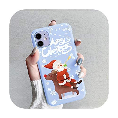 Fundas de dibujos animados de Navidad para iPhone 12 Pro Max Mini Fundas para iPhone 11 Pro Max X XS XR SE 2020 7 8 6 6S 5 5S SE Plus TPU-sdlrcsna-Para iPhone 5 5S SE