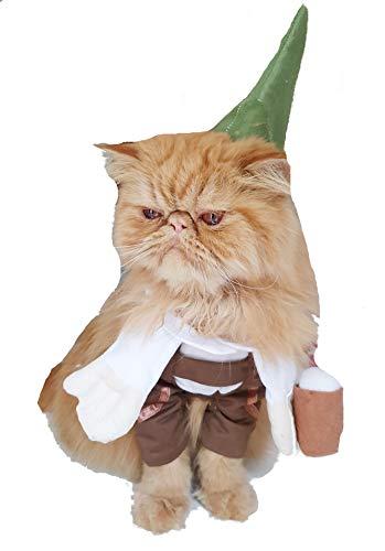 Glamour Girlz Super süße Hunde Katzen verkleiden Sich Halloween lustiges Kostüm Oktoberfest deutsche Lederhosen Outfit (Medium)