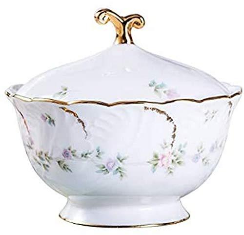 WQF Europäische hochwertige Knochen China Zuckerdose Haushalt Keramik Zucker Vorratsglas mit Deckel