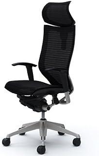オカムラ オフィスチェア バロン 可動ヘッドレスト 可動肘 座メッシュ ブラック CP81CR-FDH1