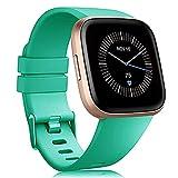 JIANPUXIANG Cinturino per Fitbit Versa /Versa2/ Lite Smart Watch Smart Band Sport Bracciale in Silicone Braccialetto per Fitbit Versa 2 Wristbelt (Color : Water Duck Color, Size : L)