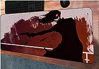 マウスパッド地獄のようなマウスパッド900x400mmマウスパッドゲーミングマウスパッドゲーマーパーソナライズされた大きなマウスパッドキーボードPCパッド-90cmx40cm_(E)