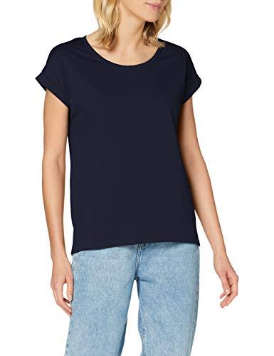 Vila Damen Vidreamers Pure Fav T-Shirt, Blau (Total Eclipse), 38 (Herstellergröße: M)