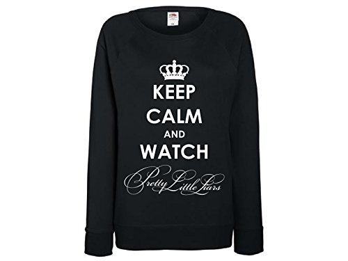 Damen Sweatshirt mit Druck Keep Calm Watch Pretty Little Liars (S)