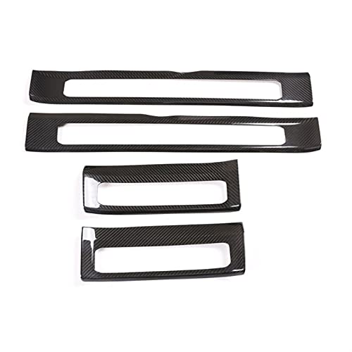 HYCQ Frame Cover Trim Real Carbon Fiber Inner Door Plate Threshold Strip Protect Sticker For M-ercedes For B-enz For G Class W463 2019-2020 W464 Car Inner Cover Decorative