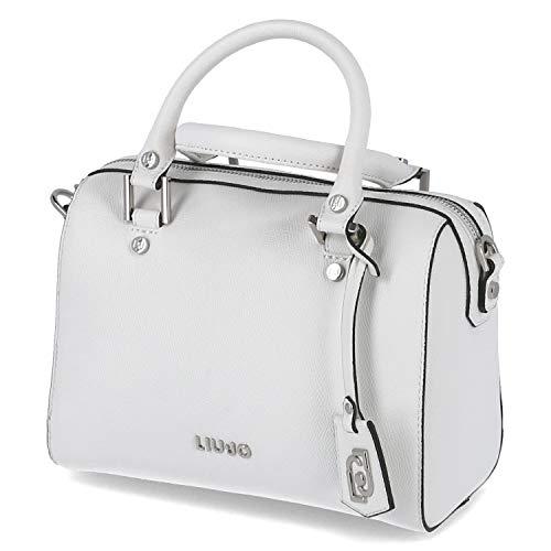 Borsa Liu-jo bauletto S Satchel ecopelle colore bianco lana BS20LJ152