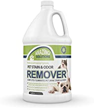 Amaziing Solutions Pet Odor Eliminator and Stain Remover Carpet Cleaner for Dog Urine and Cat Pee, Professional Strength Enzymatic Solution, Natural Enzymes for Carpet and Hardwood Floors (Gallon)