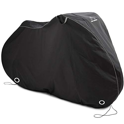 Stationary Bike Cover L Fitted For 1 Bike - Waterproof Outdoor Bicycle Storage - Heavy Duty Ripstop Material - Offers Constant Protection For All Types of Bicycles All Through The 4 Seasons