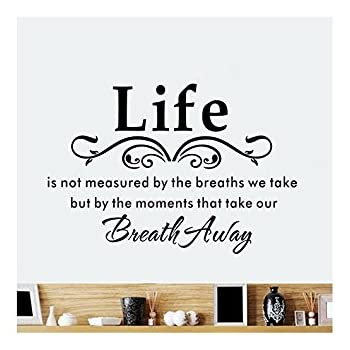 Life Moments MURAL WALL ART STICKER  QUOTE DIY Home Decor Wall Decals /& Stickers