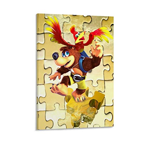 Yuhui Banjo Kazooie Puzzle Lienzo Póster y Wall Art Picture Print Modern Family Dormitorio Decoration Posters 30 x 45 cm