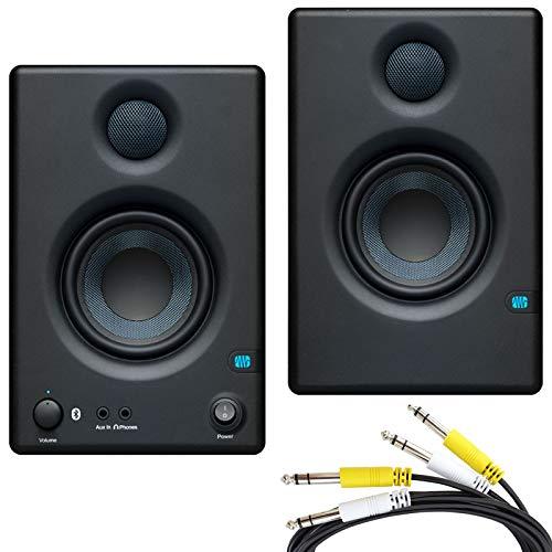 Presonus Eris 3.5 BT Aktive Monitor-Boxen mit Bluetooth + 2-fach Klinke Anschlusskabel