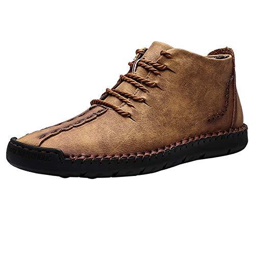 [SOARHOPE] レースアップシューズ カジュアルシューズ メンズ ワークブーツ 工作靴 軽量 おしゃれ Yellow 25.5cm