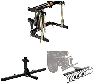Kolpin 3-Point Hitch System with 48 Inch Accessory Tool Bar and 60 Inch Landscape Rake