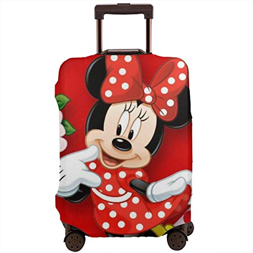 Travel Luggage Cover Mickey Mouse Minnie Love Couple Heart Suitcase Protector Washable Baggage Covers 18-32 Inch-S
