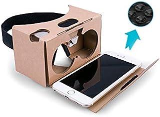 Google Cardboard(グーグル・カードボード)3Dメガネ 3d Vrメガネ 組み立て式 NFCタグと ベルト付き