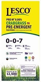 Lesco Professional, 50 LB, 12,500 SQFT Coverage, 0-0-7, Crab Grass Preventer Turf Fertilizer