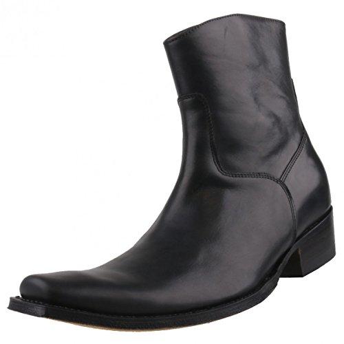 Sendra Herren Stiefelette 7438 Schwarz, Schuhgröße:EUR 45