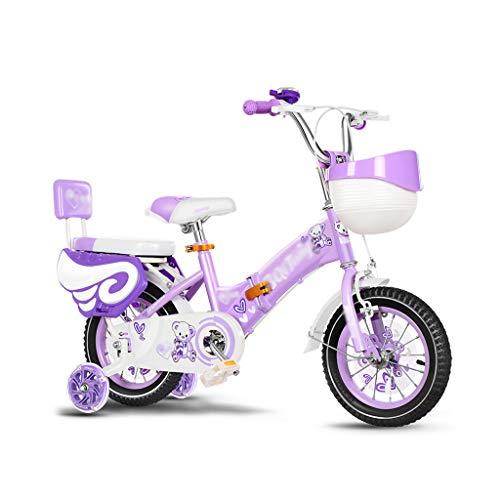 GLJ Vélos enfantsVélo Enfant,Vélo Pliant 12/14/16/18 Pouces,Vélo 2-5-7-8-12 Ans,avec Panier Et Roues Auxiliaires,3 Couleurs Disponibles(Size:14-3)