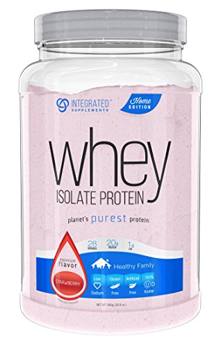 Integrated Supplements CFM Whey Protein Isolate Diet Supplement, Strawberry, 868g