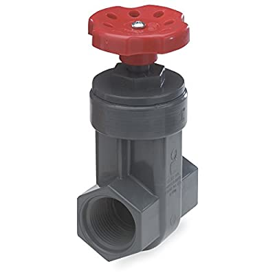 NDS GVG-1000-T 1-Inch Threaded PVC Schedule 80 Gate Valve, Gray from Nds