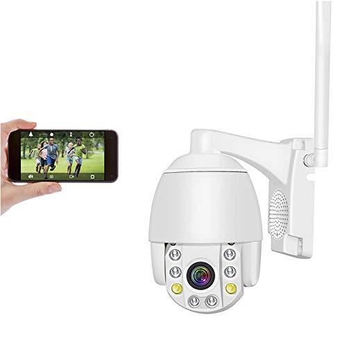 5MP Cámara Domo Exterior WiFi Impermeable, Aottom 5X Zoom Auto Focus Cámara IP inalámbrica con Detector de Movimiento Alarma, Audio de Dos Vías, Visión Nocturna, APP CamHi, Soporta Tarjeta SD Max 128G