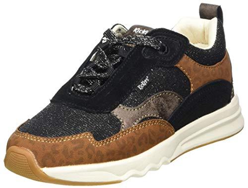 Kickers KIWY CDT, Zapatillas, Noir Leopard, 34 EU