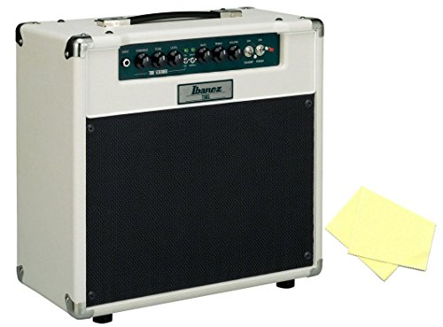 Ibanez TSA15 Tube Screamer 15W Tube Guitar Combo Amp Bundle with Polishing Cloth