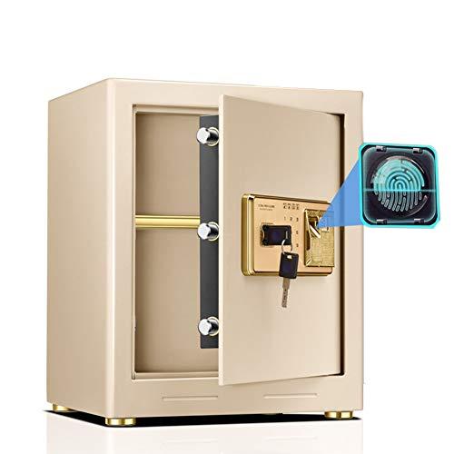 Tresor Fingerabdruck-Safe mit Tastatur, feuerfeste wasserdichte, tragbare Stahlschrank-Safes, für Buchgeldpapiere, 45 cm hoch