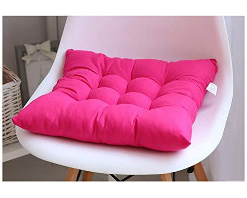 GELing Cojines para Silla Espesar Transpirable Cojín Cuadrado para Sala De Estar Dormitorio Oficina Rosa 40X40CM