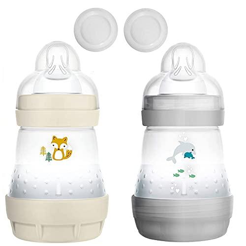 MAM Anti Colic Flasche 160 ml // 2er Set Uni // inkl. Sauger Größe 1 ab Geburt //