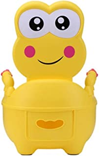 KJSMA Portable Travel Potty para ni/ños Urinal para ni/ños y ni/ñas Camping Car Travel Vacations Kids Potty Training Strategy beb/és y ni/ños peque/ños Amarillo