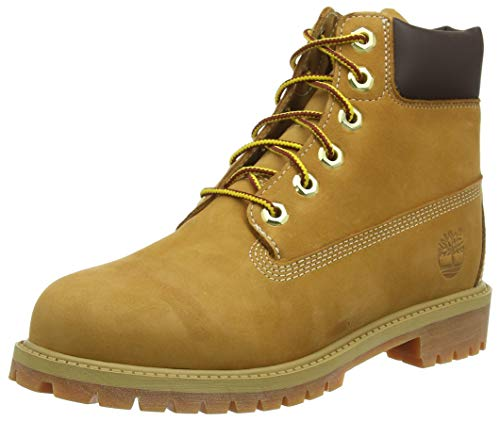 Timberland Unisex-Kinder Pokey Pine 6In Boot with Side Zip Kurzschaft Stiefel, Gelb (Wheat), 25 EU