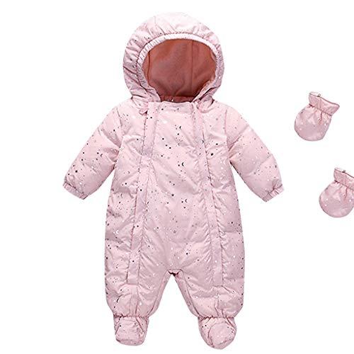 Longra baby-donsjack met capuchon, voor kleine meisjes en jongens, jas voor baby's, gewatteerde deken met capuchon, mantel, warm, overall, winter, sneeuw, baby casual