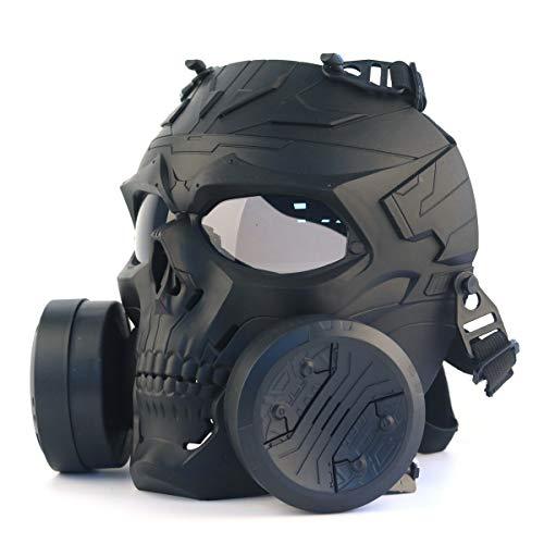 SGOYH Taktische Airsoft Paintball Maske Augenschutz Ausrüstung BB Gun CS Spiel Mechanische Schädel Maske mit Dummy Filter Doppel-Turbo-Lüfter