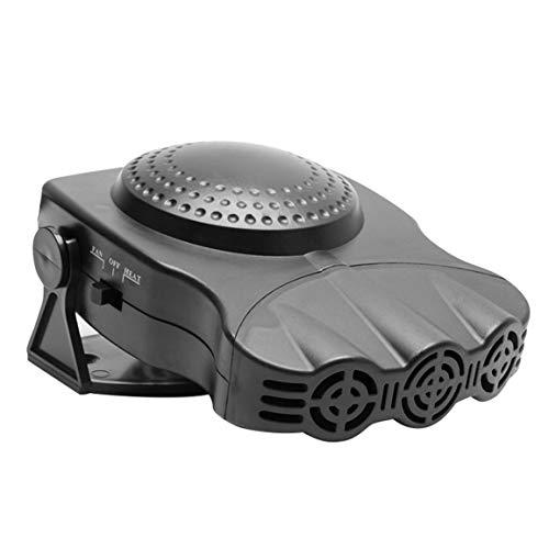 Calentador de coche, calentador eléctrico, ventilador de refrigeración, secador de 12 V, parabrisas, desempañador antiniebla, desempañador para barco automático, negro