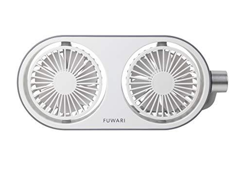 [山善] 扇風機 FUWARI ミニデスクファン タッチスイッチ 7枚羽根 風量3段階調節 2WAY電源(USB/AC) ライトホワイト YTT-C50(LW) [メーカー保証1年]