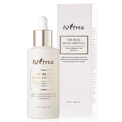 Isntree TW-Real BIFIDA Korean Face Collagen Ampoule 1.69 fl. oz. for Aging, Dry Skin Type - Reduce Fine Lines, Dull Spots, –, Hydrating, Moisturizing Ample Serum