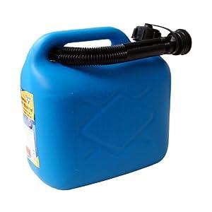 Bidón de gasolina de 5 Litros, PVC azul, aprobado por la ONU