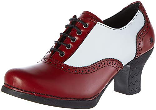 Art 1068 CITY-LEADER  HARLEM Zapatos de tacón con punta cerrada Mujer, Rojo (Burdeos/White Burdeos/White), 39 EU