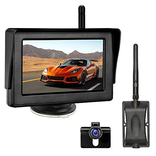 """Kit Telecamera Retromarcia Wireless, Telecamera di Backup con Visione Notturna Super, Telecamera Posteriore Impermeabile IP68 Monitor LCD Posteriore da 4,3"""" Sistema di Assistenza al Parcheggio"""