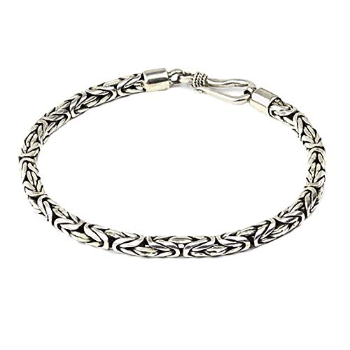 Silberarmband Königskette 925 Sterling Silber Länge 21cm Stärke 4mm