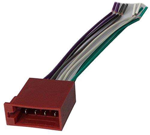 Aerzetix: Connecteur - Fiche - ISO - 8PIN - pour - Autoradio - Précâblée - Faisceau - Universel - Son Haut Parleurs - Enceintes - C11033