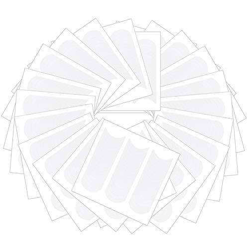 nuoshen 1200 Stücke Selbstklebend French Nail Sticker, Französisch Nagel Aufkleber Weiß Maniküre Nagel Schablonen Nagel DIY Kunst Sticker (25 Blätter)