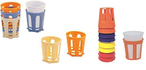 takestop® Set 8 Pezzi SOTTOBICCHIERI REGGIBICCHIERI in PLASTICA FAG_26067 Reggi sotto Bicchieri Colore Casuale