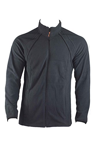 Livergy Herren FLEECEJACKE Freizeitjacke Sweatjacke Sport Jacke Blau oder Schwarz, Farbe:Blau;Größe:2XL